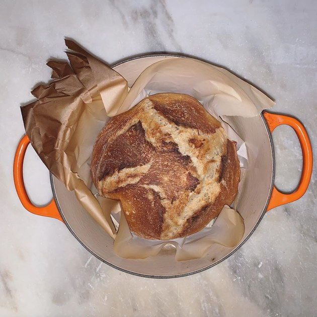 bread in le creuset