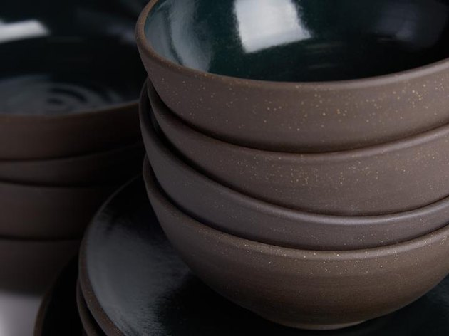 close-up of cereal bowls