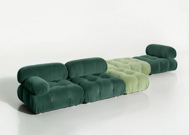 ario Bellini Camaleonda 2020 Sofa in dark and light green