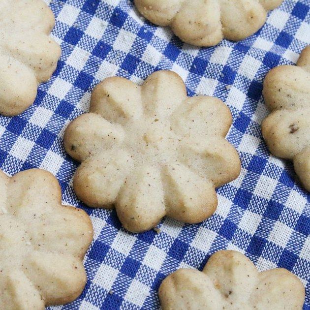 Milk & Cardamom Chai Spritz Cookies