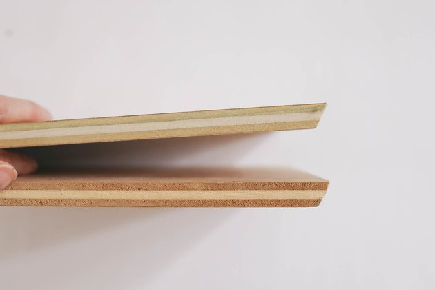Two boards mitered on the ends to 30 degree angles