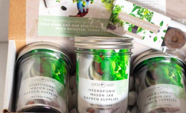 three mason jars with garden supplies