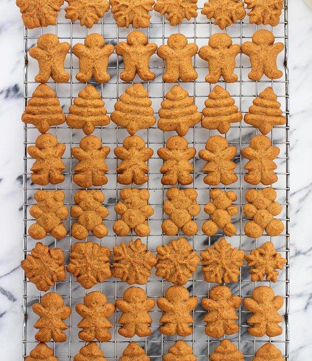 My Sequined Life Gingerbread Spritz Cookies