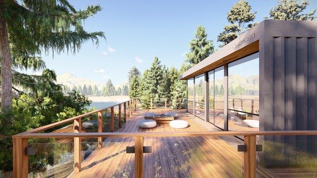 modern eco-friendly modular home