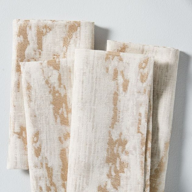 textured white and tan bark pattern napkins