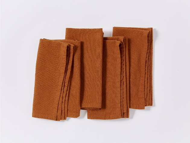 burnt orange textured napkins