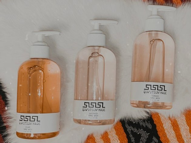Quw'utsun' Made hand wash bottles