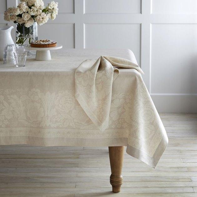 Vintage Floral Jacquard Tablecloth