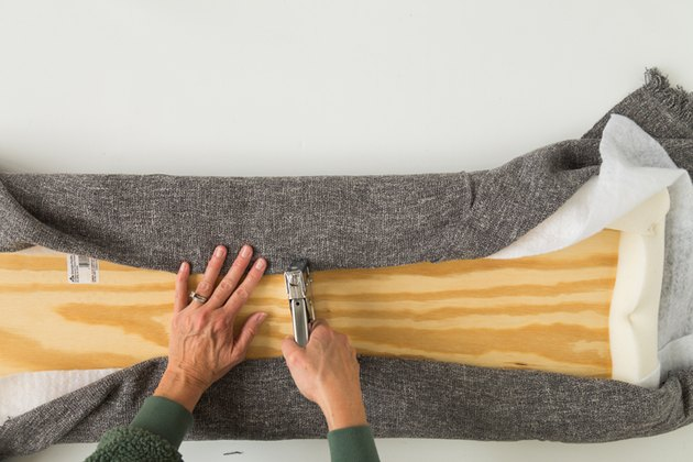 How to make an upholstered pad for mudroom bench