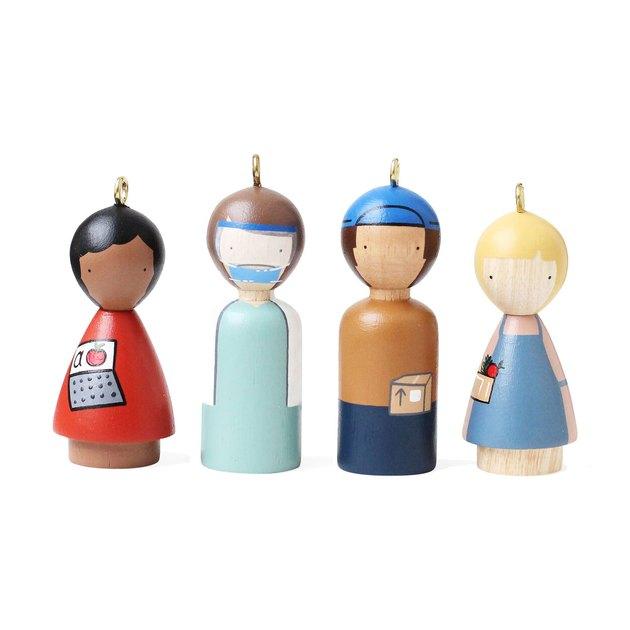 Modern Heroes Ornaments