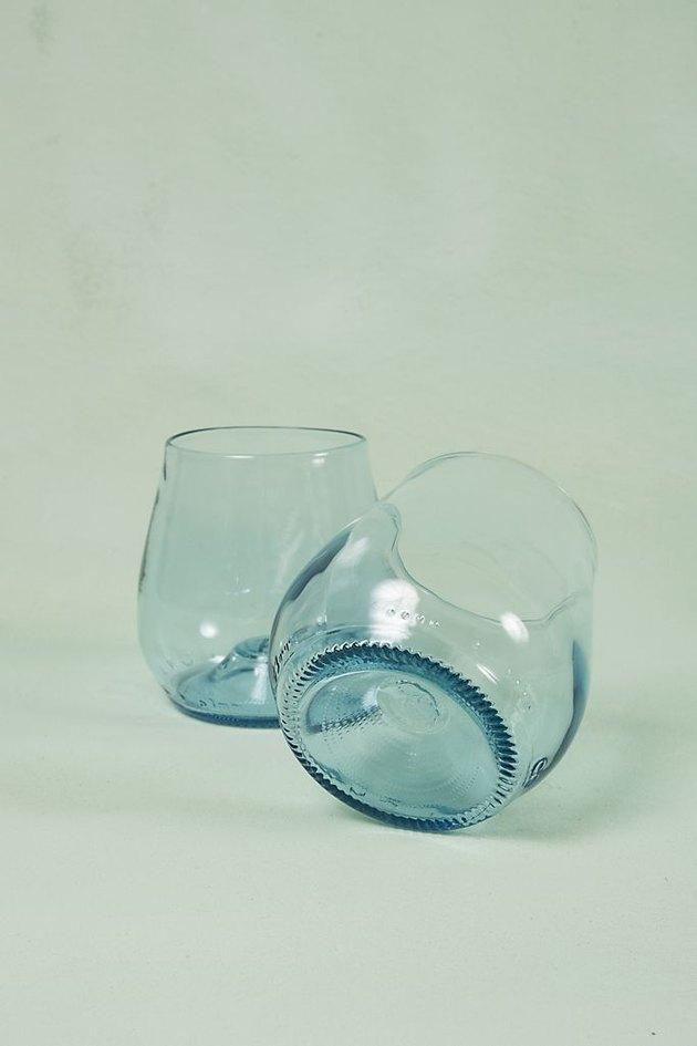 Remark Glass Stemless Wine Bottle Glasses