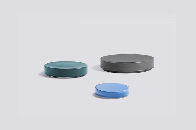office organization supplies, round glass containers