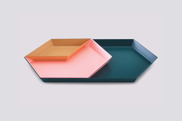 office organization supplies, geometric nesting trays