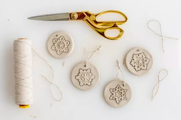 Stamped clay ornaments