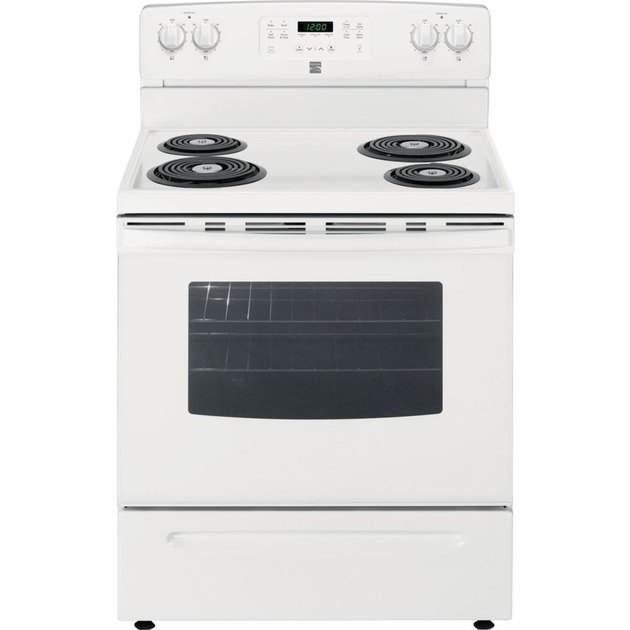 5.3 cu. ft. Self-Clean Kenmore stove with Electric Coil Range in White, $649.99