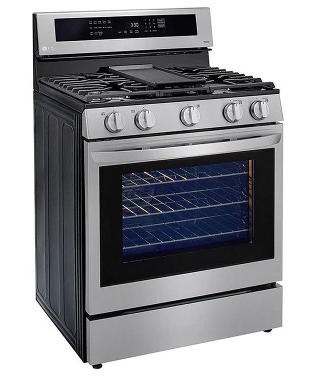 LG 5.8 cu ft. Smart Wi-Fi Enabled True Convection InstaView™ Gas Range with Air Fry, $1,999.99 eco-friendly stove oven