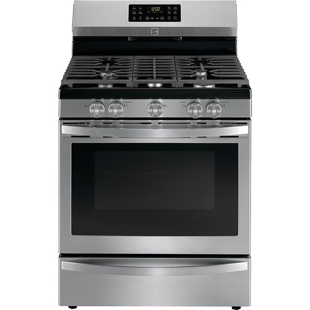 Kenmore stove 74455 5 cu. ft. Gas Range with Convection in Fingerprint Resistant Stainless Steel, $989.99