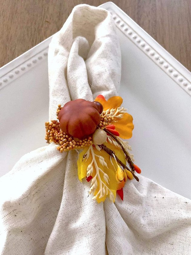The Gift Bakestry Baby Handmade Pumpkin Decorated Napkin Rings