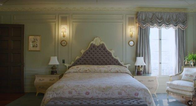 actress Bridget Fonda and composer Danny Elfman's los angeles guest bedroom