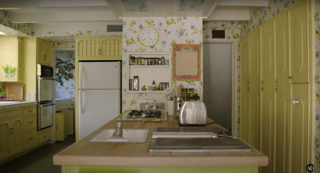 actress Bridget Fonda and composer Danny Elfman's guest house kitchen