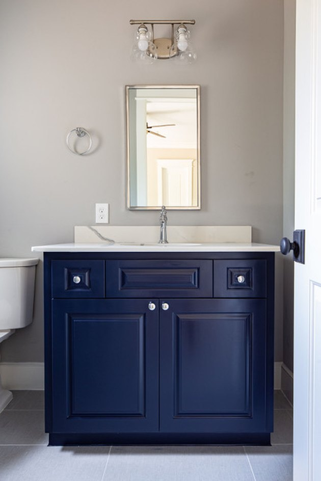 painted bathroom cabinet