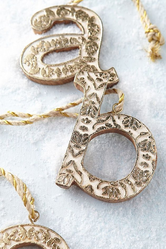 Anthropologie Vined Monogram Ornament
