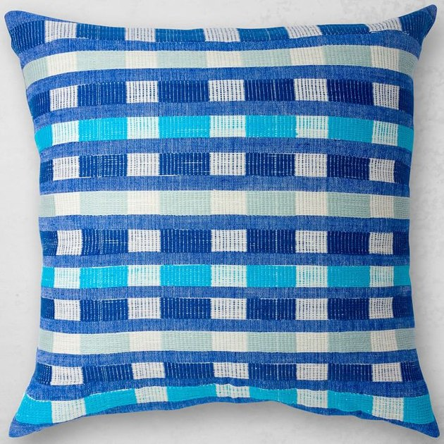 Bolé Road Textiles blue woven pillow