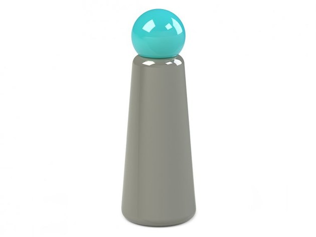 Lund London Contemporary Stainless Steel Bottle in grey and teal