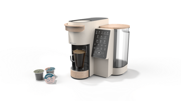 bruvi coffee system and three B-Pods