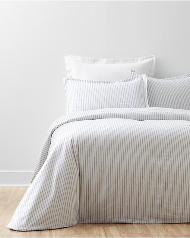Garnet Hill Cozy Ticking Organic-Cotton Flannel Bedding, $36-$139