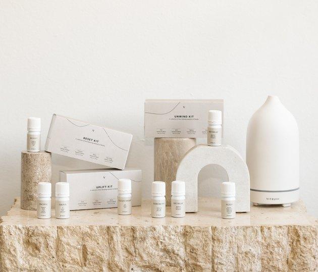 Vitruvi essential oils and diffuser