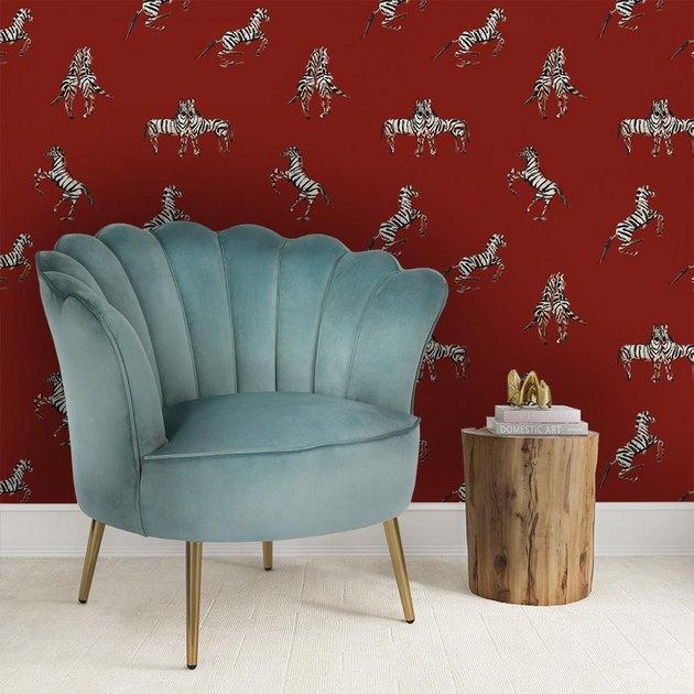 Novogratz X Donald Robertson zebras in love wallpaper