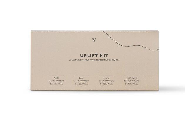 tan Uplift essential oils gift kit