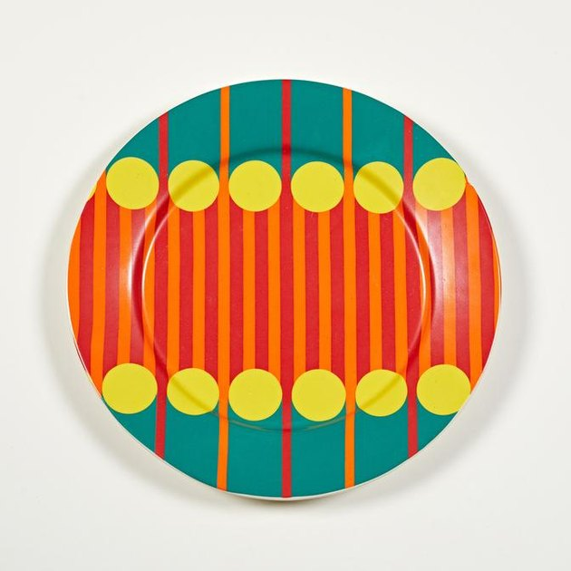 plate with colorful pattern