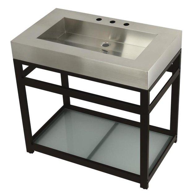 steel industrial bathroom sink