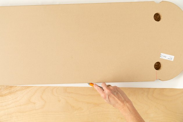 IKEA Hack with removable wallpaper