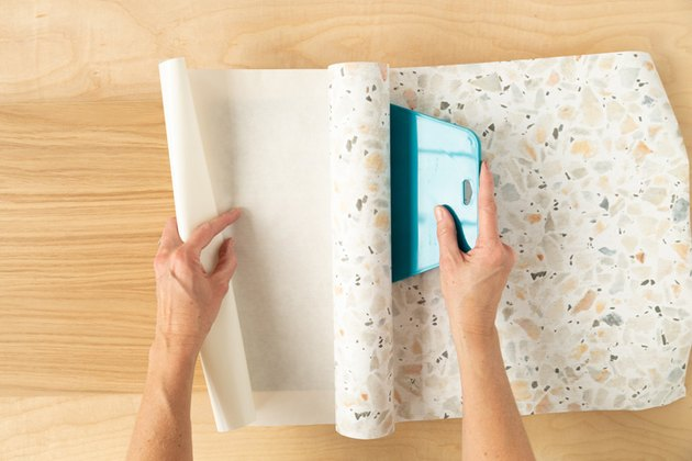 Putting removable wallpaper on IKEA console table