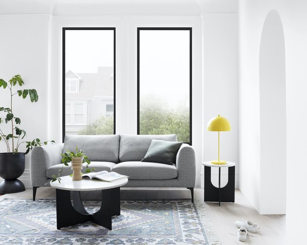 living room with gray