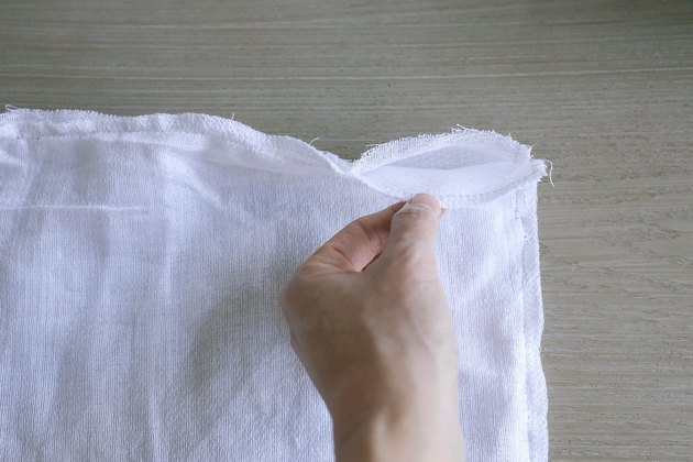 2-inch opening left in the sewed squares