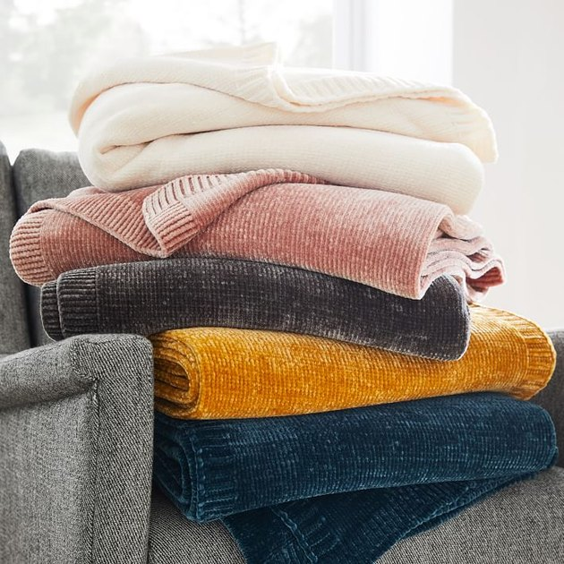 West Elm Luxe Chenille Throw