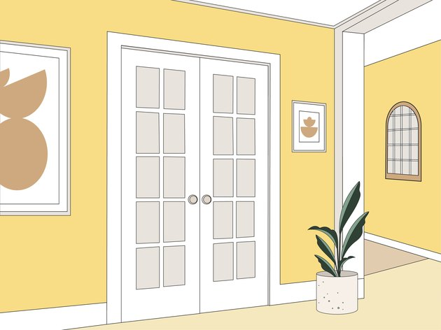 french door illustration