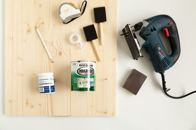 supplies for DIY Arched Mood Board