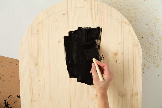 Adding magnetic paint on arched mood board