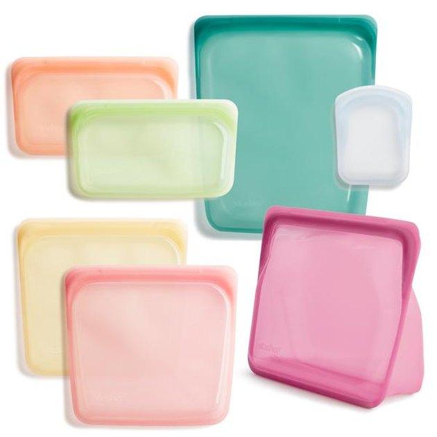 colorful stasher silicone bag