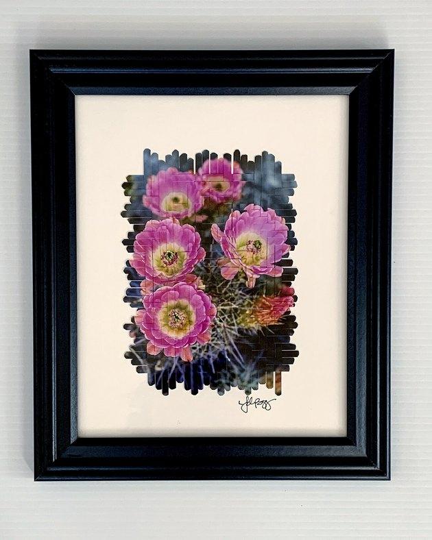 Tedra Begay Cactus Flowers Photoweaving