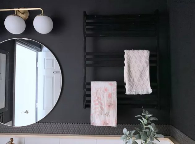 Black minimalist towel rack