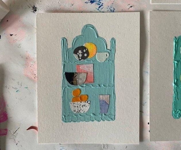 Essi Ramirez Things in My Kitchen Original Collage Painting