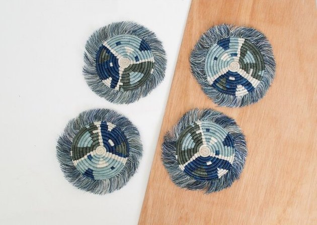 All Across Africa Matisse Fringed Coasters
