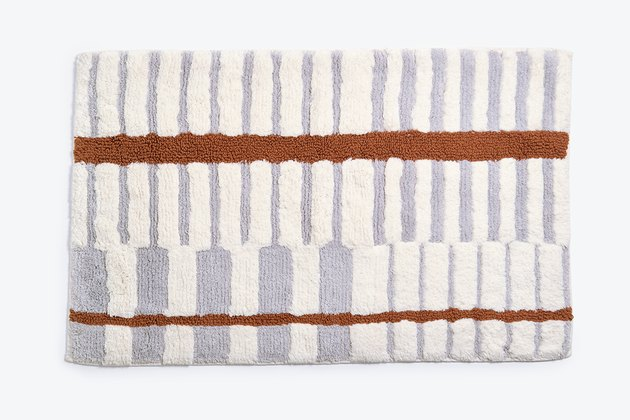 Morrow lilac and rust bath mat