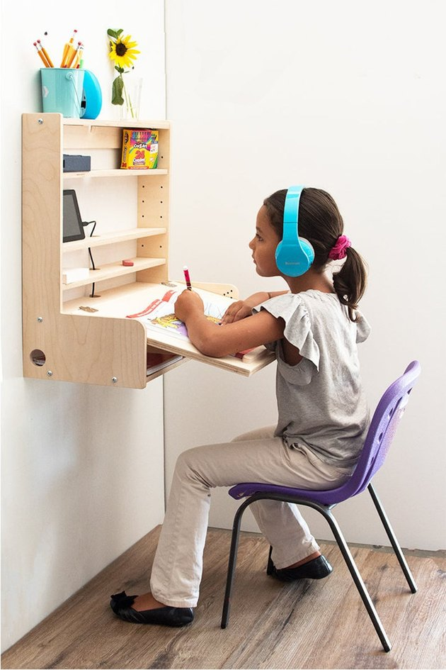 foldable wall desk